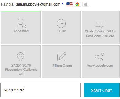 Gestionar Visitantes web